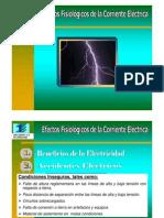 1.- Efectos Fisiologicos de La Corriente Electrica
