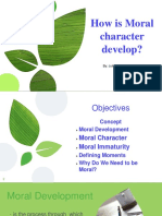 Topic 7- Moral Development and It's Elementst