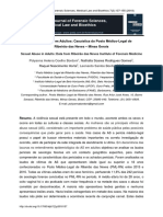 Sexual Abuse in Adults Data Ribeirao Das Neves Institute of Forensic Medicine