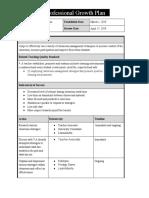 professional growth plan psii 2019  1