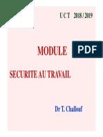 Cours Securite Au Travail 1. Opt2 Proth2. 2018