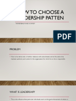 How to Choose a Leadership Patten