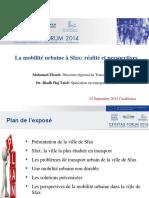 La Mobilité Urbaine à Sfax_ Réalité Et Perspectives