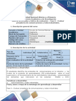 Fase 0 - Evaluar Presaberes de Comunicaciones y Redes Industriales.
