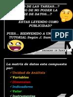 Tutorial matriz de datos