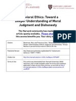 Bazerman & Gino (2012) Behavioral Ethics