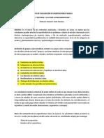 Pauta de Evaluación de Disertaciones Finales.