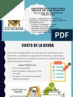 Costo de Deuda - UNMSM - UNIVERSIDAD NACIONAL MAYOR DE SAN MARCOS