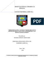 Implementación, Control y Monitoreo de Un Sistema de Riego Por Goteo Subterraneo Con Microcontroladores