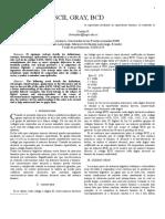 Primera Consulta, Codigos Ascii, Gray, Bcd - Copia