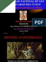 perforacion y voladura para mineria subterranea