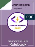 Programming Rush Rulebook