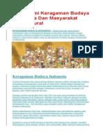 Memahami Keragaman Budaya Indonesia Dan Masyarakat Multikultural.docx