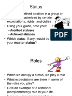 Status and Roles