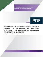 Reglamento de Sesiones de Los Consejos General y Distritales Del IEPC