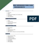 ITENS A SEREM SEPARADOS PARA CADA PROCEDIMENTO.pdf