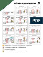 Calendário Anual Do Kids 2019