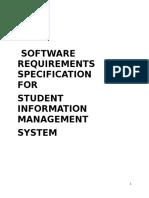 Student management srs
