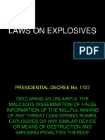 Laws on Explosives Ra No. 9516 and Presidential Decree No. 1727