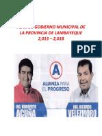 Plan de Gobierno Municipal App 2015-2018