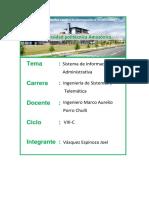 Sistema de Informacion Administrativa(Joel vasquez espinoza)