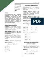 Algebra 4º - Grados de Polinomios