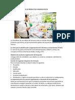 Organizar Despachos de Productos Farmaceuticos