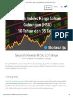 Kinerja IHSG 10 Tahun Terbaru (2008-2017), Sejarah 20 Dan 35 Tahun