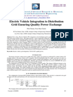 Electric Vehicle Integration to Distributiongrid Ensuring Quality Power Exchange