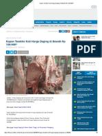 Kapan Terakhir Kali Harga Daging Di Bawah Rp 100.000