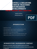 Developing a Measure of Science Teacher Knowledge Development