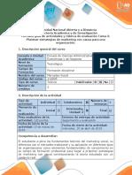 Guía de actividades y rúbrica de evaluación - Tarea 3 - Plantear estrategias de marketing con causa para una organización.docx