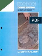 Lightolier DC-IC Downlighting Brochure 1981