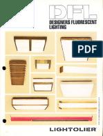 Lightolier DFL Designers Fluorescent Lighting Catalog 1981