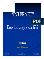 Internet Does It Change Social Life Myanmar ING 2nd Camp Ei Ei Aung