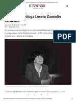 Murió La Socióloga Lucero Zamudio Cárdenas