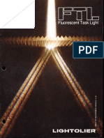 Lightolier FTL Fluorescent Task Light Brochure 1979
