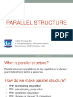 Week 02-English 2-Parallel Structure