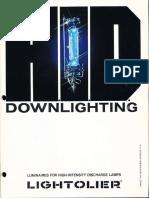 Lightolier Calculite HID Downlighting Catalog 1981