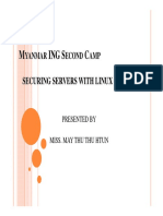 Securing Servers With Linux Firewall Myanmar ING 2nd Camp May Thu Thu Htun