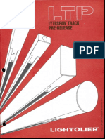 Lightolier LTP Lytespan Track Pre-Release Brochure 1981