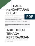 Tata Cara Pendaftaran Diklat