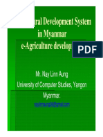 Agricultural Development System in Myanmar e-Agriculture Development Myanmar ING 2nd Camp Nay Linn Aung