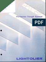 Lightolier PTS Perimeter Trough System Brochure 1979