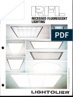 Lightolier RFL Recessed Fluorescent Lighting Catalog 1981