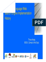 Myanmar Language Web Search Engine Implementation History Myanmar ING 2nd Camp Thura Aung