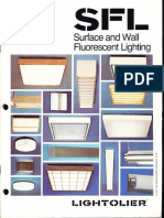 Lightolier SFL Surface & Wall Fluorescent Lighting Catalog 1979