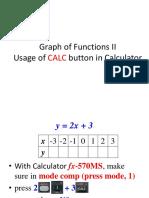 Usage of Calculator MX570