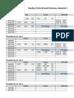 Timetable - Semester 1, 2019 (11 February).xlsx