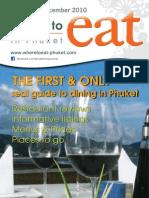 Where to Eat Phuket November - December 2010